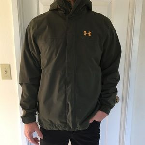 Green gold under armour jacket water resistant M